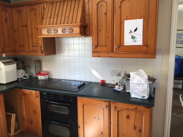 Little Greene Painted Kitchen before3