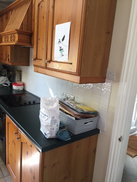 Little Greene Painted Kitchen before4
