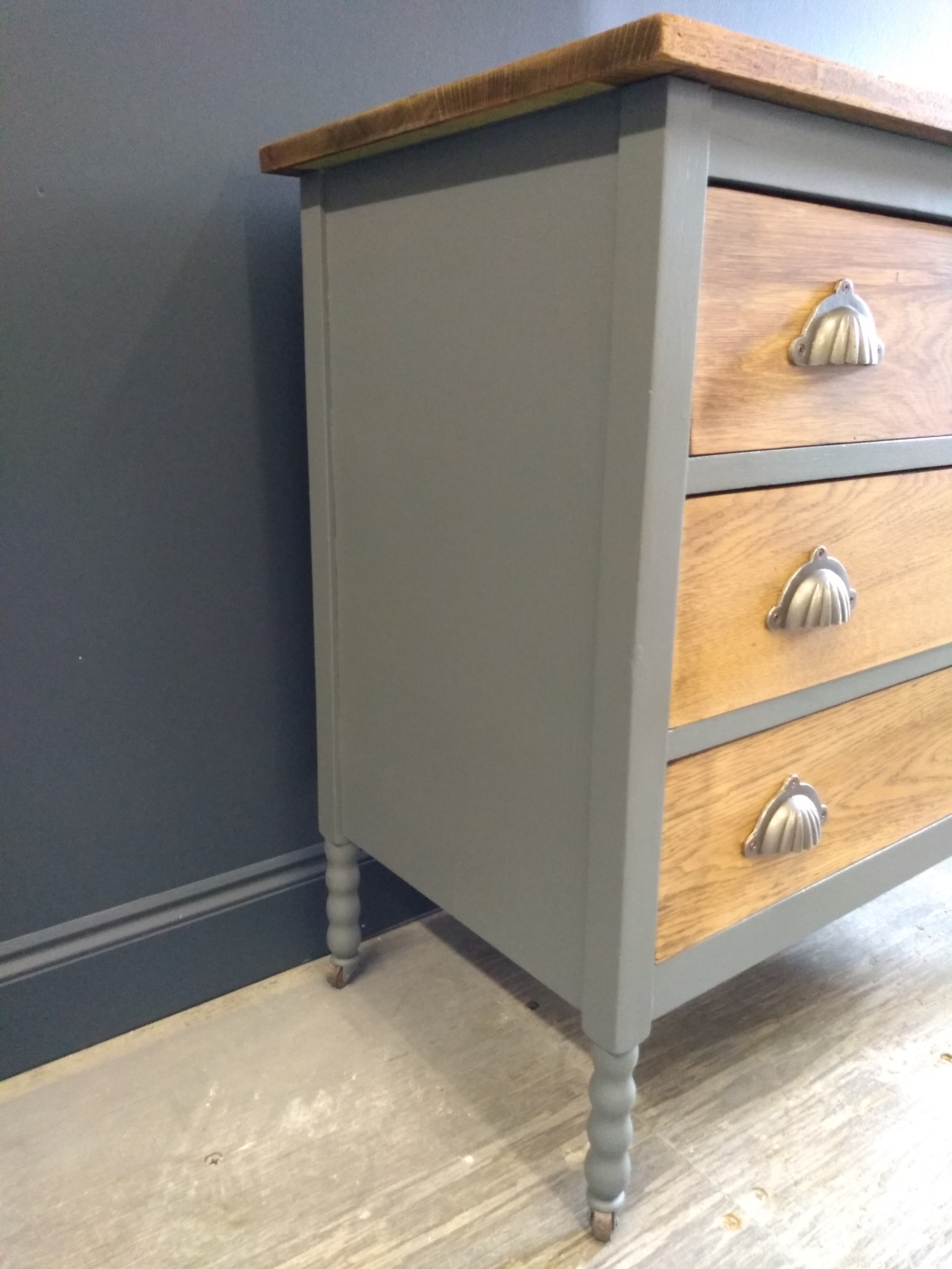 Painted Oak Chest of Drawers Suffolk 5